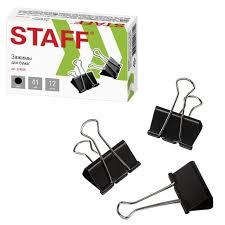 <b>Staff Зажимы</b> для бумаг комплект на 200 листов 12 шт ...