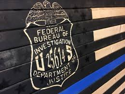 federal bureau fbi thin blue line flag