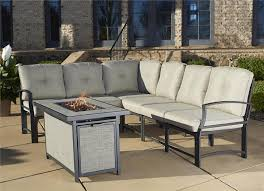 cosco outdoor 7 piece serene ridge aluminum sofa sectional patio furniture set with cushions and aluminum brown set patio source outdoor