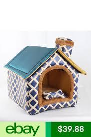 Fashion <b>Striped Removable</b> Cover & <b>Pet House</b> in 2019 | <b>Dog</b> ...
