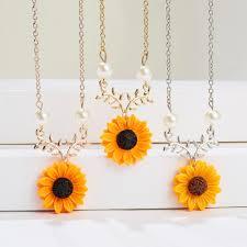 Ожерелье с очаровательным цветком, Модный золотой розовый ...