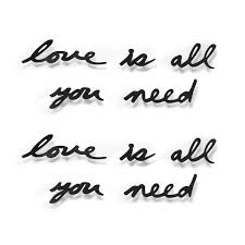 <b>Декоративная надпись Love Is</b> All You Need - Предметы ...