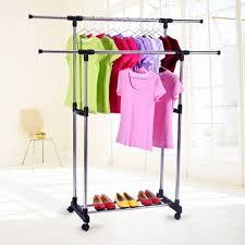 Stainless Steel <b>Foldable</b> Single-Pole <b>Clothes Hanger</b>,<b>Garment Rack</b> ...