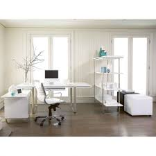 chic design luxury home office ideas shape white computer desk wheeled white cpelo rectangle shape white chic shaped home office