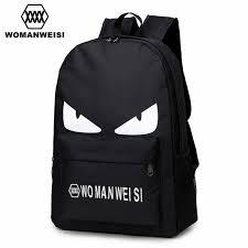 2018 Fashion Black Printing Oxford <b>Women</b> Men Laptop <b>Backpack</b> ...