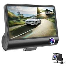 <b>3 Lens WDR Dash</b> Camera 4 inch Display HD 1080P Car DVR ...