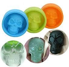 HUHU833 <b>Cake Mold</b>, Pop <b>Halloween</b> 3D Skull <b>Silicone</b> Mold ...