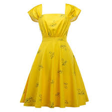 <b>Summer Vintage Elegant</b> Party Sweet Yellow Women Mini Dresses ...