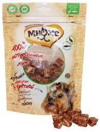 <b>Мнямс лакомство для собак</b> кубики из мяса утки c треской 100 г