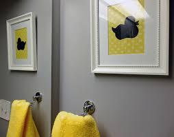 bathroommodern black white yellow