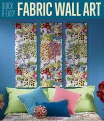 easy home decor idea: quick amp easy fabric wall art home decor ideas