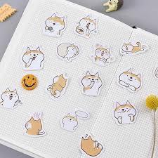 45pcs/много милые собаки декоративные Diy дневник <b>наклейки</b> ...