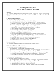 job responsibilities of accountant general professional resume job responsibilities of accountant general accountant general job description sample monster general manager resume samples visualcv