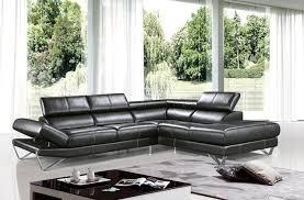 modern black sectional sofa in top grain italian leather modern living room black modern living room furniture