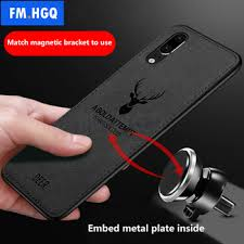Hot Cloth Texture Deer 3D Soft TPU Magnetic Car Case for ...