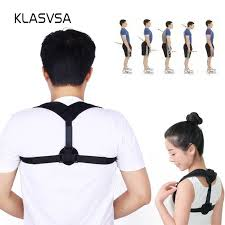 <b>Adjustable Upper Back</b> Posture Corrector Corset Brace <b>Shoulder</b> ...