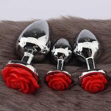 <b>Rose Flower Anal Plug</b> For Men And Women Anal Masturbator Adult ...