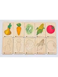 Сортер. Деревянные <b>карточки</b> - вкладыши. Модель Овощи ...