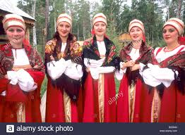 russian women smiling in traditional clothing siberia russia stock russian women smiling in traditional clothing siberia russia