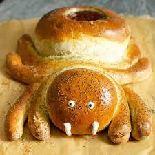 <b>Halloween Spider</b> Bread - Savoury Kids <b>Party</b> Food ideas