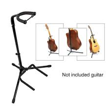 Tripod Useful <b>Foldable</b> Practical Bracket <b>Metal Universal</b> Guitar ...