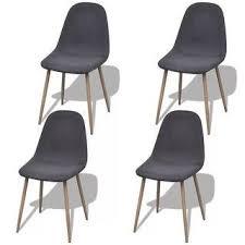 Shop vidaXL <b>Dining Chairs 4 pcs</b> Fabric Dark Gray - Free Shipping ...