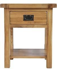 oakdale end table rectangle oak wood rustic shelves drawers amazing light wood