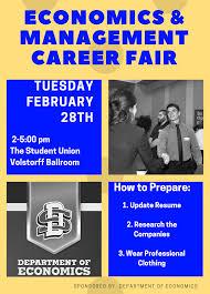 economics management career fair south dakota state university spring 17 career fair poster