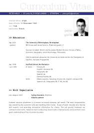 good cv format example service resume good cv format example an example of a good cv bbc curriculum vitae resume sample