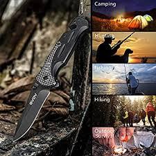 GVDV Pocket <b>Folding Tactical Knife</b> - Utility <b>Knife</b> for EDC <b>Outdoor</b>