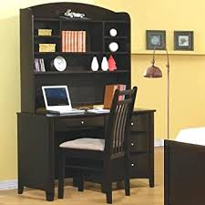 Amazon Com Phoenix Computer Desk With Hutch And Chair By Coaster
