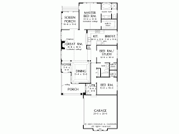 Eplans Bungalow House Plan   Perfect for Narrow Lots   Square    Level
