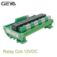 <b>Free Shipping GEYA</b> 8 Channel Interface Relay Module 12VACDC ...