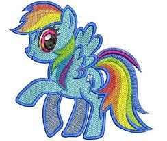 Rainbow Dash-<b>My Little Pony</b> Machine Embroidery Design 2 ...
