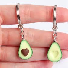 2020 <b>New Simulation Fruit</b> Avocado Heart shaped Keychain ...