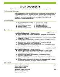 sample teacher resumes   teaching resume example   sample teacher    teacher resume examples   education sample resumes   livecareer
