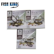 <b>FISH</b> KING Carbon Steel 50 Pcs/Lot <b>3# 12</b># <b>Fishing Hook</b> Fishhooks ...