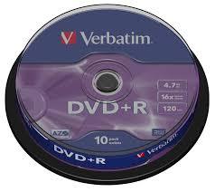 <b>Диск DVD</b>+<b>R Verbatim 4.7Gb</b> 16x Cake Box (10 шт) — купить в ...