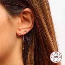<b>CANNER</b> Rainbow Zircon Moon Star Stud <b>Earrings</b> for Women 925 ...