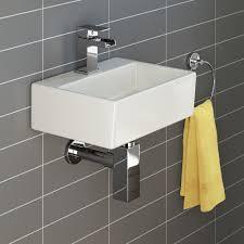 bathroom vanity unit basin sink cloakroom mm rita wall hung cloakroom basin small