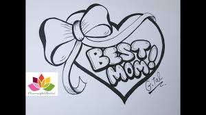 Draw Best Mom On A Heart, Puffy <b>Ribbon Bow</b> & Dancing Sashes ...