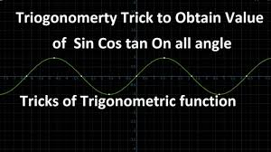 hindi urdu trigonometry trick to all value of sin cos tan hindi urdu trigonometry trick to all value of sin cos tan trigonometry table math trick 1