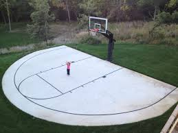 a backyard half court with striping is can be an inspiring early morning site home home office early