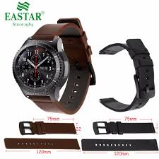 <b>Genuine Classic Leather Strap</b> For Samsung Gear S3 Band Frontier ...