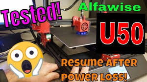 Tested! Will the <b>Alfawise</b> U50 really continue a print after power loss ...