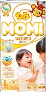 Купить <b>Подгузники Momi Premium L</b> 9-14кг 50шт с доставкой на ...