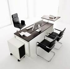 the most charmingly office desk design ideas for home office elegant dark finish rectangle wooden black office desk office desk