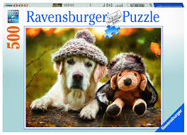 "<b>Пазл Ravensburger</b> ""<b>Собака в</b> шапке"" 500 шт. арт.14783 — купить ..."
