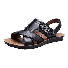 Corriee Fisherman Leather <b>Sandals Mens Summer Flats</b> Adjustable