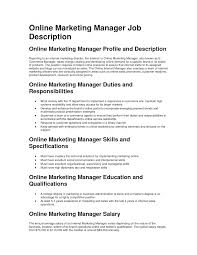 cover letter duties of s and marketing manager cover letter job description of s and marketing executive in hotel roles job responsibilities xduties of